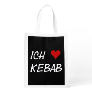 Ich Liebe Kebab I love kebab Deutsche German Reusable Grocery Bag