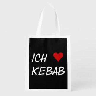 Ich Liebe Kebab I love kebab Deutsche German Reusable Grocery Bag