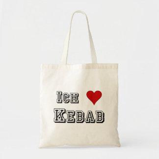 Ich Liebe Kebab I love kebab Deutsche German Tote Bag
