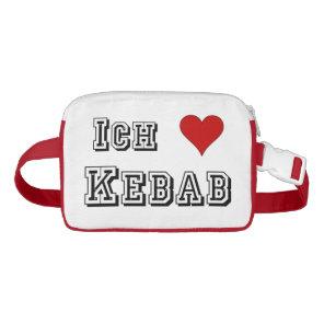 Ich Liebe Kebab I love kebab Deutsche German Waist Bag