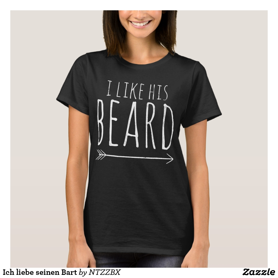 Ich liebe seinen Bart T-Shirt - Best Selling Long-Sleeve Street Fashion Shirt Designs