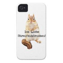 Ich Liebe Streifenhörnchen! Case-Mate iPhone 4 Case