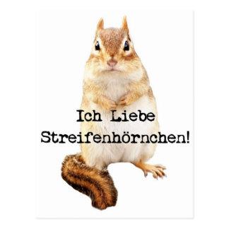 Ich Liebe Streifenhörnchen! Postcard