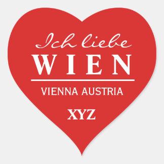 Ich Liebe Wein custom monogram stickers