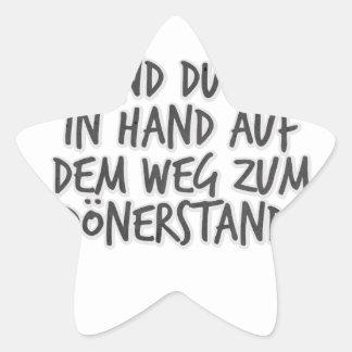 Ich und du Hand in Hand auf dem Weg zum Dönerstand Star Sticker
