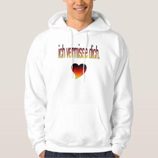Ich Vermisse Dich! German Flag Colors Hoodie