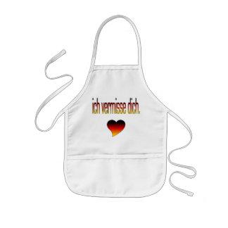 Ich Vermisse Dich! German Flag Colors Kids' Apron