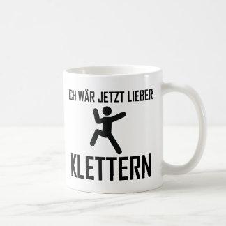 ich wär jetzt lieber klettern coffee mugs