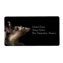 Ichabod Crane of Sleepy Hollow Label