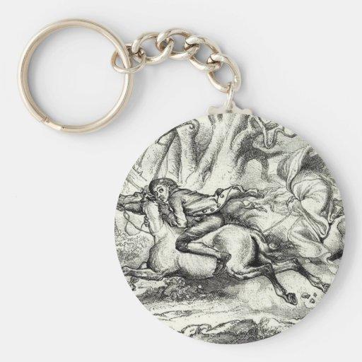 Ichabod Crane Running Away Key Chains