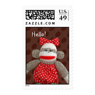 Ichigo the Sock Monkey Postage