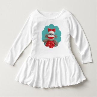 Ichigo the Sock Monkey Toddler Ruffle Dress
