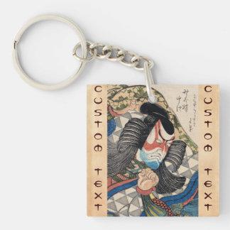 Ichikawa Danjuro IV en el papel del arte de Kageki Llavero Cuadrado Acrílico A Doble Cara