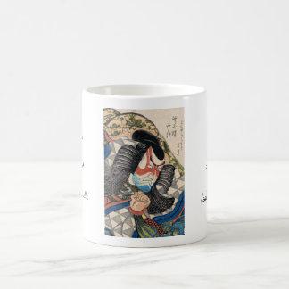 Ichikawa Danjuro IV en el papel del arte de Kageki Taza Básica Blanca