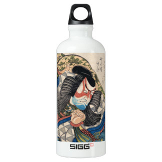 Ichikawa Danjuro IV in the Role of Kagekiyo art Aluminum Water Bottle