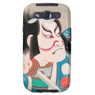 Ichikawa Danjuro kabuki samurai warrior tattoo art Samsung Galaxy S3 Cases