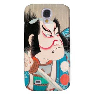 Ichikawa Danjuro kabuki samurai warrior tattoo art Galaxy S4 Covers