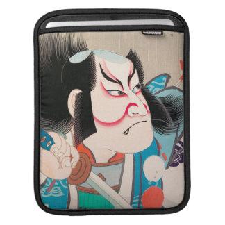Ichikawa Danjuro kabuki samurai warrior tattoo art iPad Sleeves