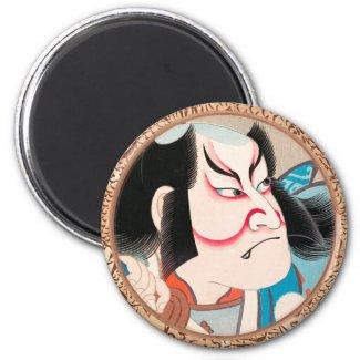 Ichikawa Danjuro kabuki samurai warrior tattoo art Refrigerator Magnet