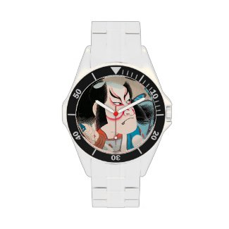 Ichikawa Danjuro kabuki samurai warrior tattoo art Wrist Watch