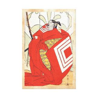Ichikawa Danjuro V en un papel Katsukawa de Shibar Impresión En Lona