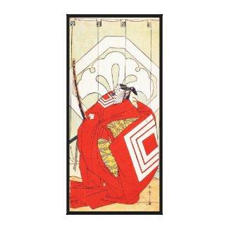 Ichikawa Danjuro V in a Shibaraku Role Katsukawa Canvas Print