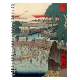 Ichikobu Bridge Spiral Note Book