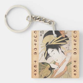 Ichirakutei Eisui una señora oriental japonesa de  Llaveros