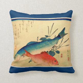 Ichiryusai HIROSHIGE Japanese Fish Wildlife Pillow