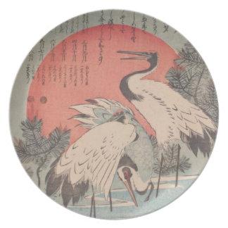 Ichiryusai Hiroshige Plate