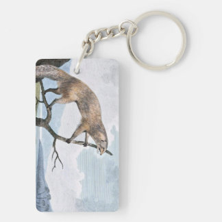 Ichneumon (Mongoose) Wildlife Art Double-Sided Rectangular Acrylic Keychain