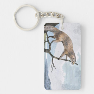 Ichneumon (Mongoose) Wildlife Art Single-Sided Rectangular Acrylic Keychain