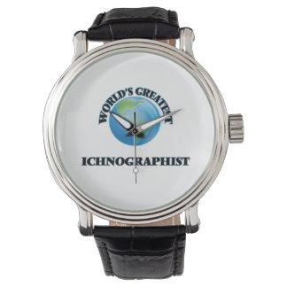 Ichnographist más grande del mundo reloj de mano