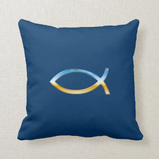 Ichthus - almohada cristiana del símbolo de los