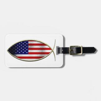 Ichthus - American Flag Bag Tag