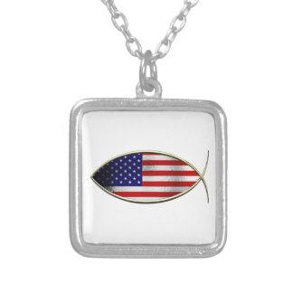 Ichthus - American Flag Custom Necklace