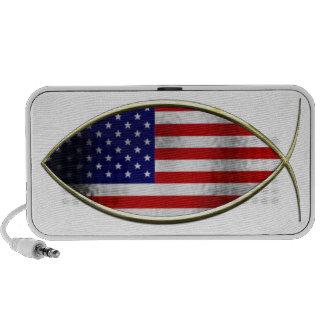 Ichthus - American Flag Travelling Speaker