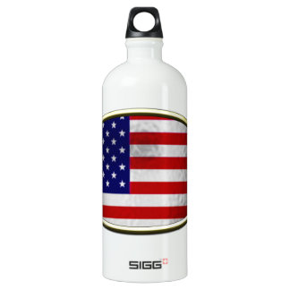 Ichthus - American Flag Water Bottle