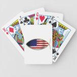 Ichthus - bandera americana baraja cartas de poker