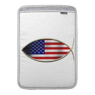 Ichthus - bandera americana funda macbook air
