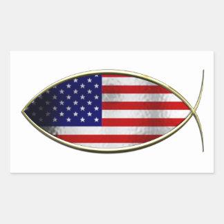 Ichthus - bandera americana rectangular altavoces