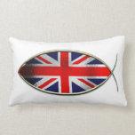 Ichthus - bandera británica almohada