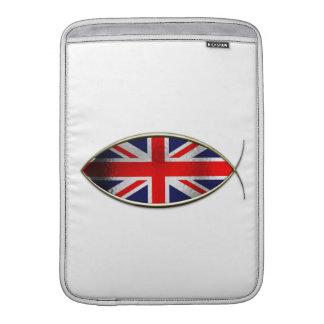Ichthus - bandera británica fundas para macbook air