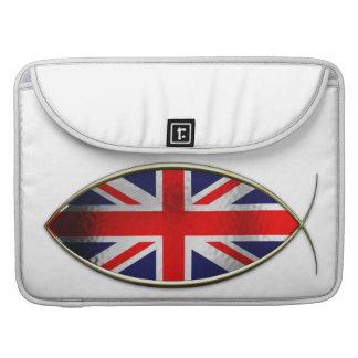 Ichthus - bandera británica funda macbook pro