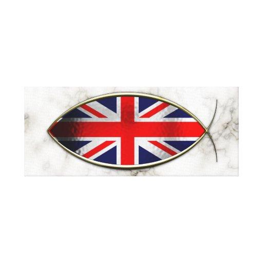 Ichthus - bandera británica lona envuelta para galerias