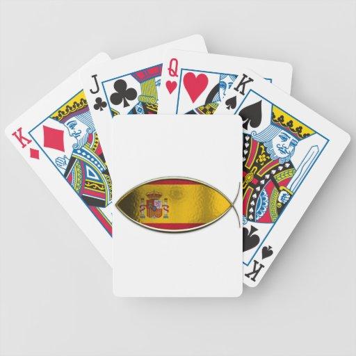 Ichthus - bandera española baraja cartas de poker