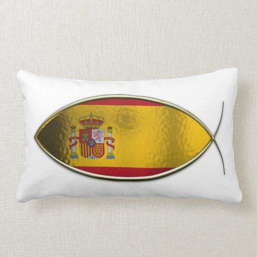 Ichthus - bandera española cojines