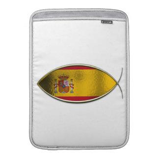 Ichthus - bandera española fundas para macbook air
