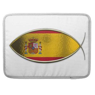 Ichthus - bandera española funda para macbooks