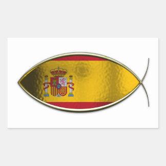 Ichthus - bandera española rectangular altavoces